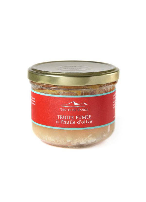 Packshot Truite Fumee Huile Olive